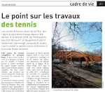 travaux tennis